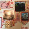 Scrapbooking Layout – Food and Fun