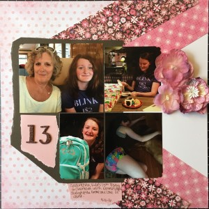 scrapbooking layout 13